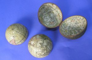 images of globe halves