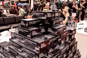 stack of Cards Against Humanity packs