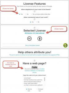 Screenshot of CC License chooser