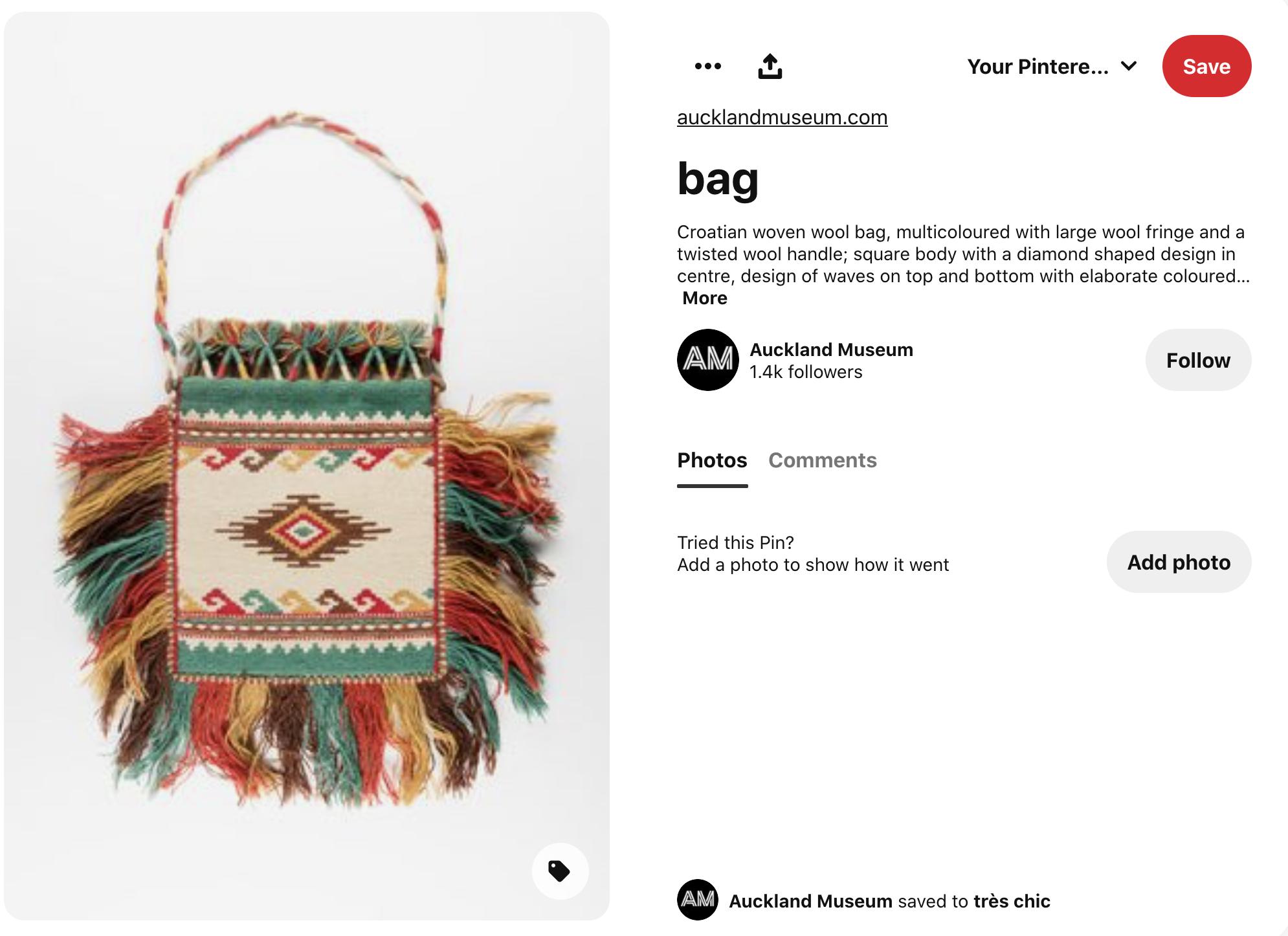 photo of woven wool bag