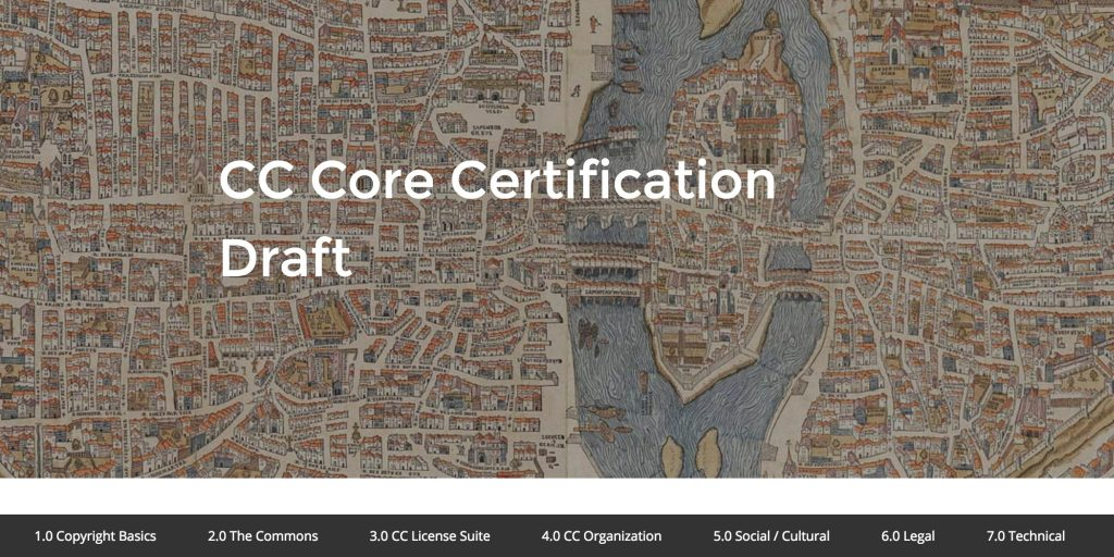 prototype for a certification draft presented in wordpress
