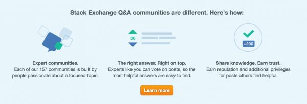 "Stack Exchange Communities are ""different"" -- http://stackexchange.com/"