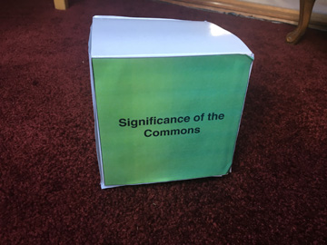 Box with certificate module title - Significance of the Commons