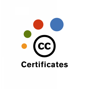 Certificate Logo with colorful dots